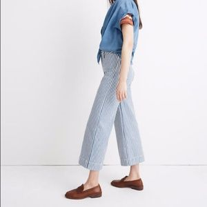 NWT Madewell Striped Cropped Pants